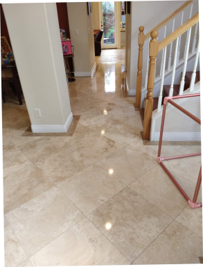 POLISH AND SEAL TRAVERTINE